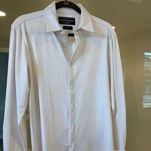Mizzen+Main Men's Medium White Dress Shirt